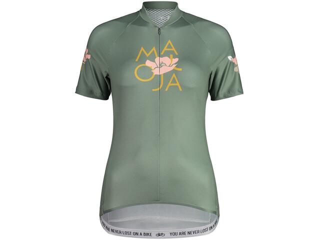 Maloja ErvaM. 1/2 Maglietta Da Ciclismo A Maniche Corte Donna, cypress